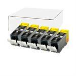 Tintenpatronen für Canon PGI-525PGBK 4529B001, (5er Pack)
