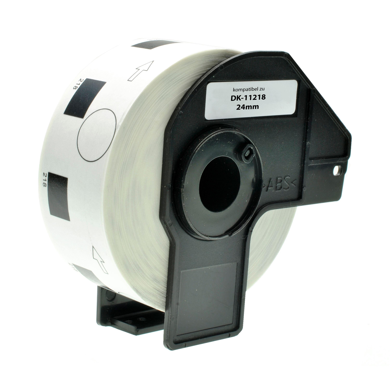 5 Rollen DK11218 DK-11218 24mm x 24mm Runde-Etiketten kompatibel f/ür Brother P-Touch QL-500 QL-550 QL-570 QL-700 QL-800 QL-810W QL-820NWB QL-1050 QL-1060N QL-1100 QL-1110NWB 1000 Etiketten pro Rolle