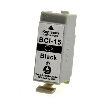 Logic-Seek  Tintenpatrone kompatibel zu Canon BCI-15BK 8190A002 XL Schwarz