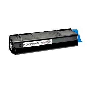 Logic-Seek  Toner kompatibel zu OKI C3200 42804540 HC Schwarz