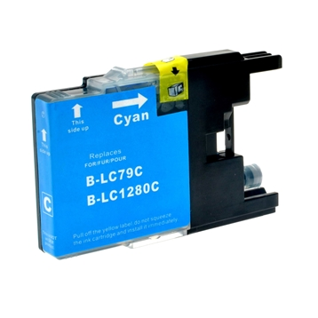 Logic-Seek  Tintenpatrone kompatibel zu Brother LC-1280XLC XXL Cyan