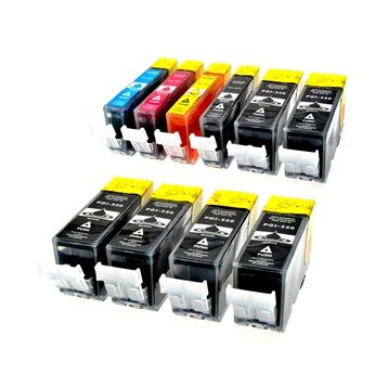 Logic-Seek 10 Tintenpatronen kompatibel zu Canon PGI-520 CLI-521 XL