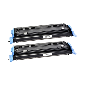 Logic-Seek 2 Toner kompatibel zu HP 1600 124A Q6000A HC Schwarz