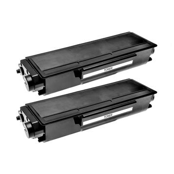 Logic-Seek 2 Toner kompatibel zu Brother TN-3280 HC Schwarz