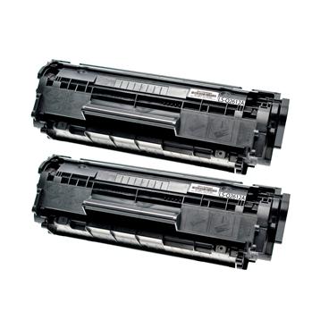 Logic-Seek 2 Toner kompatibel zu HP 12A Q2612A HC Schwarz