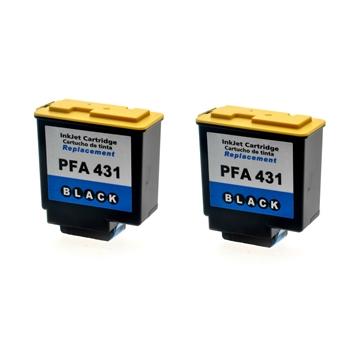 Logic-Seek 2 Tintenpatronen kompatibel zu Philips 906115308019 PFA-431 XL Schwarz
