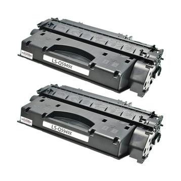 Logic-Seek 2 Toner kompatibel zu HP 49X Q5949X HC Schwarz