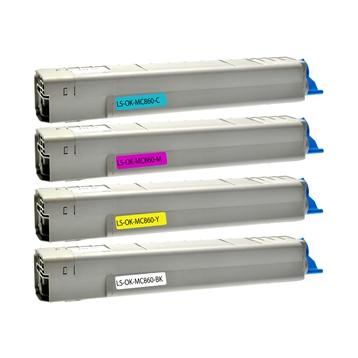 Logic-Seek 4 Toner kompatibel zu OKI MC860 HC
