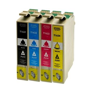 Logic-Seek 4 Tintenpatronen kompatibel zu Epson 16XL XL