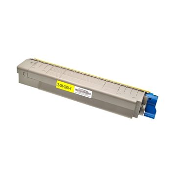 Logic-Seek  Toner kompatibel zu OKI C801 C821 44643001 HC Yellow