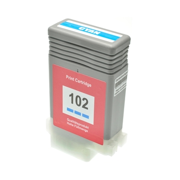 Logic-Seek  Tintenpatrone kompatibel zu Canon PFI-102C 0896B001 XL Cyan