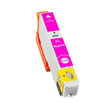 Logic-Seek  Tintenpatrone kompatibel zu Epson Stylus XP750 T2433 C13T24334010 XL Magenta