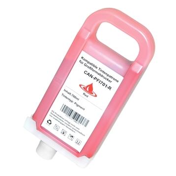 Logic-Seek  Tintenpatrone kompatibel zu Canon PFI-701R 0906B001 XL Rot