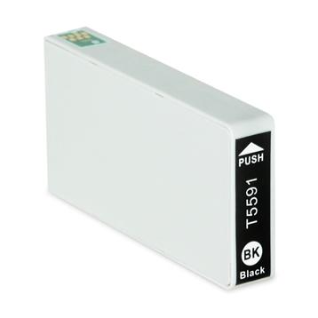 Logic-Seek  Tintenpatrone kompatibel zu Epson Stylus RX700 T5591 C13T55914010 XL Schwarz