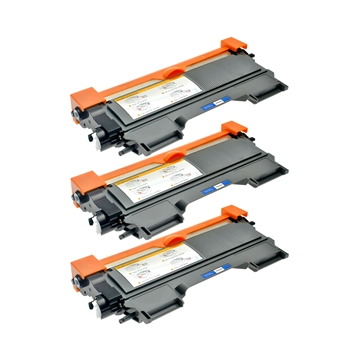 Logic-Seek 3 Toner kompatibel zu Brother TN-2220 HC Schwarz