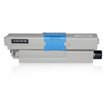 Logic-Seek  Toner kompatibel zu OKI C301 C321 44973536 HC Schwarz