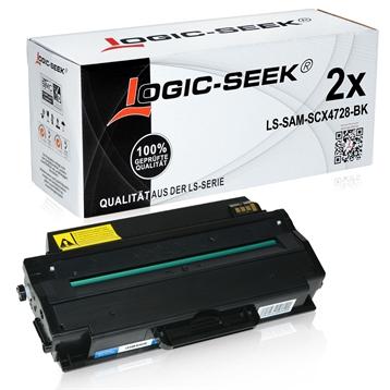 Logic-Seek 2 Toner kompatibel zu Samsung SCX-4728 ML-2955 MLT-D103L/ELS HC Schwarz