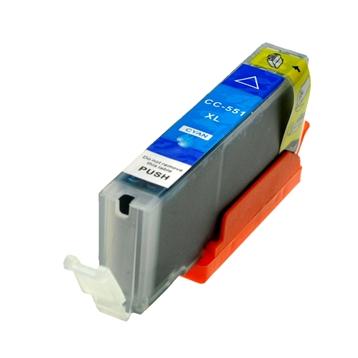 Logic-Seek  Tintenpatrone kompatibel zu Canon CLI-551CXL 6444B001 XL Cyan