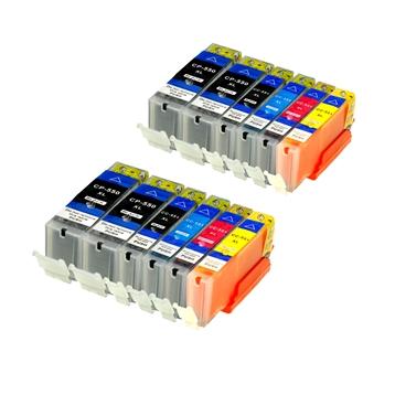 Logic-Seek 12 Tintenpatronen kompatibel zu Canon PGI-550 CLI-551 XL