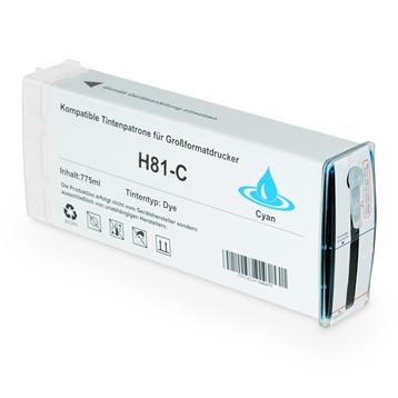 Logic-Seek  Tintenpatrone kompatibel zu HP 81 C4931A XL Cyan