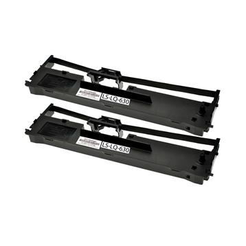 Logic-Seek 2 Farbbänder kompatibel zu Epson LQ 630 C13S015307 Schwarz