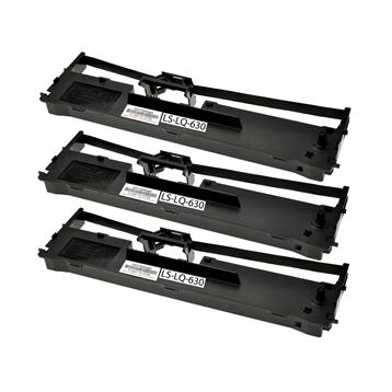 Logic-Seek 3 Farbbänder kompatibel zu Epson LQ 630 C13S015307 Schwarz