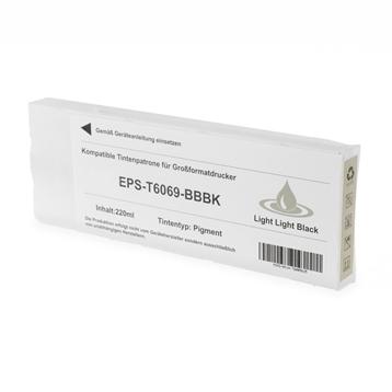 Logic-Seek  Tintenpatrone kompatibel zu Epson Pro 4880 T6069 C13T606900 XL Light Light Schwarz