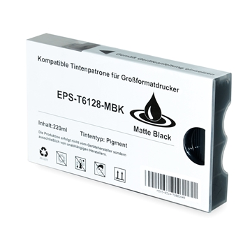 Logic-Seek  Tintenpatrone kompatibel zu Epson Pro 7800 9800 T6128 C13T612800 XL Matt Schwarz