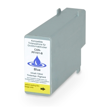 Logic-Seek  Tintenpatrone kompatibel zu Canon PFI-101B 0891B001 XL Blau