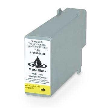 Logic-Seek  Tintenpatrone kompatibel zu Canon PFI-101MBK 0882B001 XL Matt Schwarz