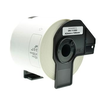 Logic-Seek 15x Etiketten kompatibel zu Brother DK-11202, 62mm x 100mm