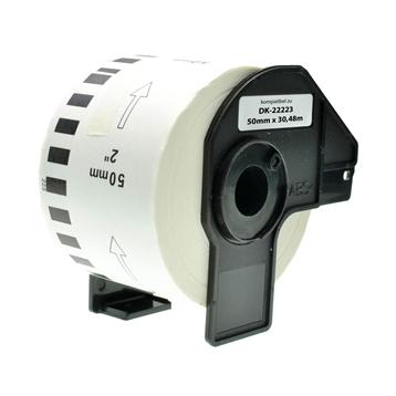 Logic-Seek 15x Etiketten kompatibel zu Brother DK-22223, 50mm x 30.48m