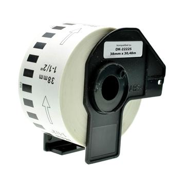 Logic-Seek 20x Etiketten kompatibel zu Brother DK-22225, 38mm x 30.48m