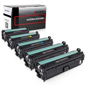 Logic-Seek 5 Toner kompatibel zu HP CE340A-CE343A HC