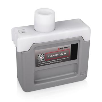 Logic-Seek  Tintenpatrone kompatibel zu Canon PFI-302BK 2216B001 XL Schwarz