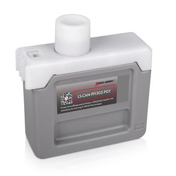 Logic-Seek  Tintenpatrone kompatibel zu Canon PFI-302PGY 2218B001 XL Light Grau