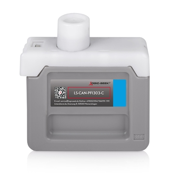 Logic-Seek  Tintenpatrone kompatibel zu Canon PFI-303C 2959B001 XL Cyan