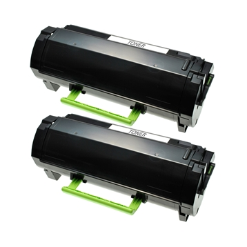 Logic-Seek 2 Toner kompatibel zu Lexmark MX510 MX610 600XA 60F0XA0 HC Schwarz