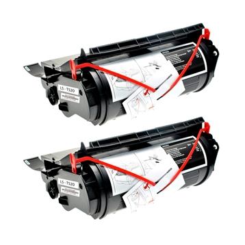 Logic-Seek 2 Toner kompatibel zu Lexmark Optra T520 12A6735 HC Schwarz