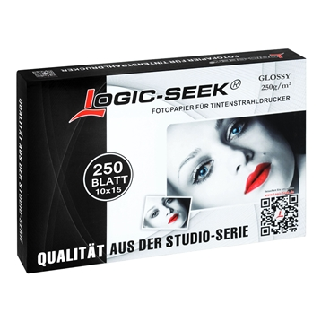 Logic-Seek Fotopapier 10x15 Glossy 250g 250x F250G250