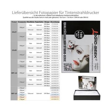 Logic-Seek Fotopapier 13x18 Glossy 210g 250x E250G210