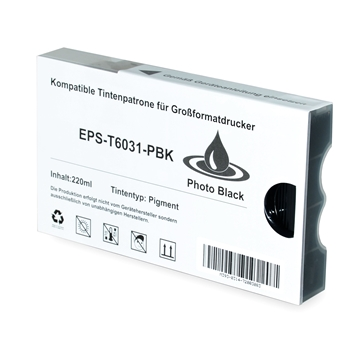 Logic-Seek 2 Tintenpatronen kompatibel zu Epson Pro 7880 98800 T6031 C13T603100 XL Photo Schwarz
