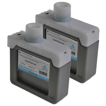 Logic-Seek 2 Tintenpatronen kompatibel zu Canon PFI-301PC 1490B001 XL Hell Cyan