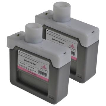Logic-Seek 2 Tintenpatronen kompatibel zu Canon PFI-301PM 1491B001 XL Hell Magenta