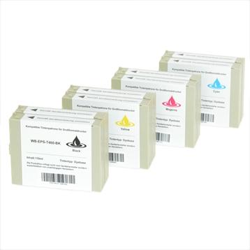 Logic-Seek 8 Tintenpatronen kompatibel zu Epson T460-T463 Pro 7000 XL