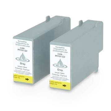Logic-Seek 2 Tintenpatronen kompatibel zu Canon PFI-101GY 0892B001 XL Grau