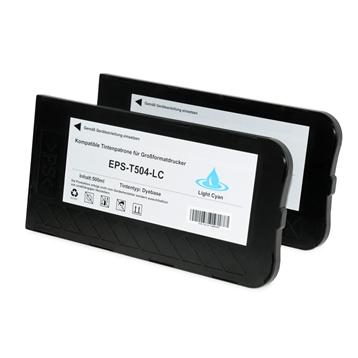 Logic-Seek 2 Tintenpatronen kompatibel zu Epson Pro 10000 T504 C13T504011 XL Hell Cyan
