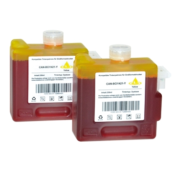 Logic-Seek 2 Tintenpatronen kompatibel zu Canon BCI-1421Y 8370A001 XL Yellow