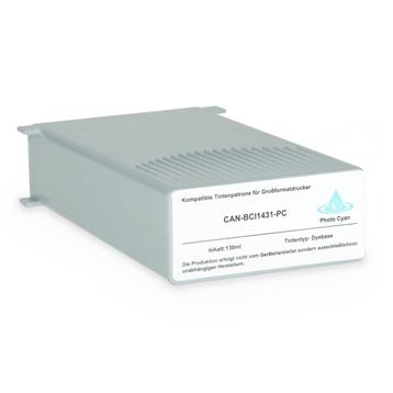 Logic-Seek 2 Tintenpatronen kompatibel zu Canon BCI-1431PC 8973A001 XL Hell Cyan