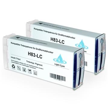 Logic-Seek 2 Tintenpatronen kompatibel zu HP 83 C4944A XL Hell Cyan